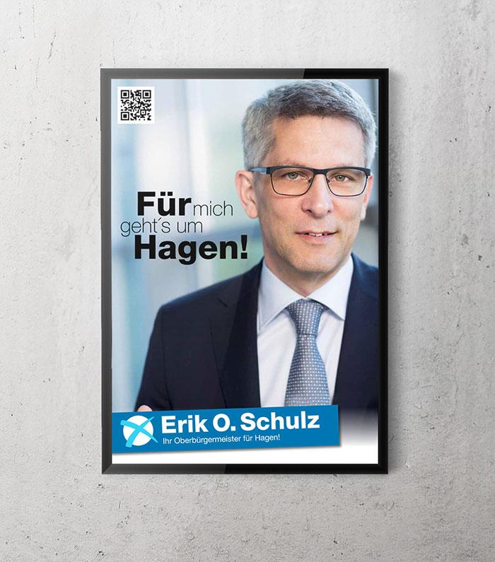 Großfläche Wahlwerbung Erik O Schulz